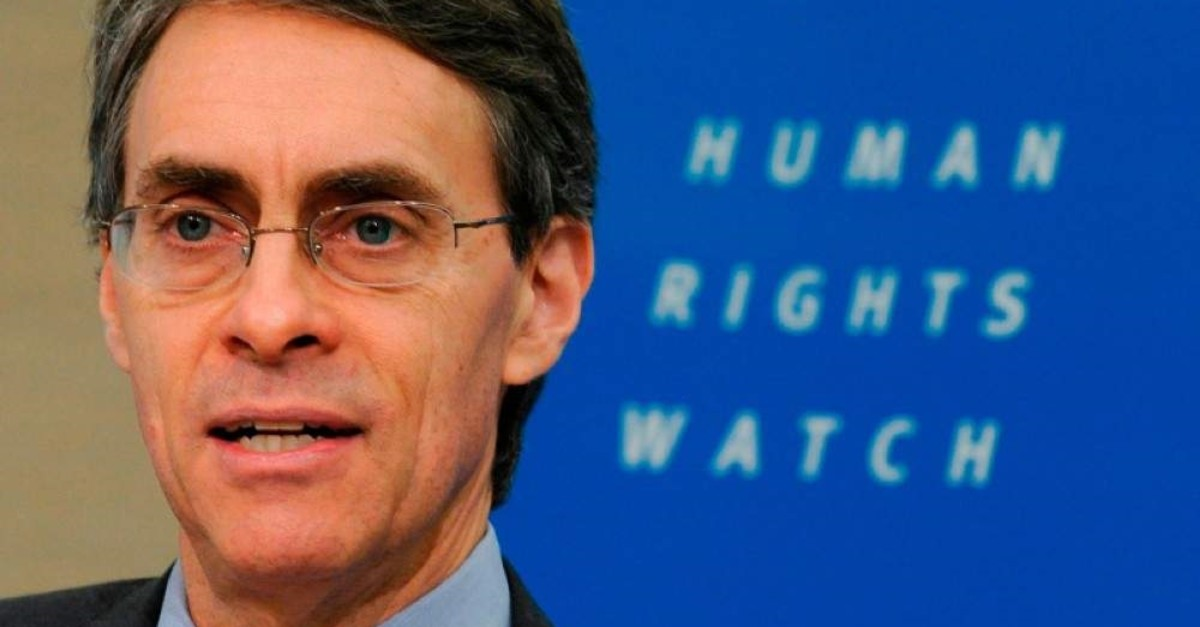 In this file photo taken on Jan. 24, 2011 Human Rights Watch (HRW) Executive Director Kenneth Roth talks during the World Reporters 2011 press briefing in Brussels. (AFP Photo)