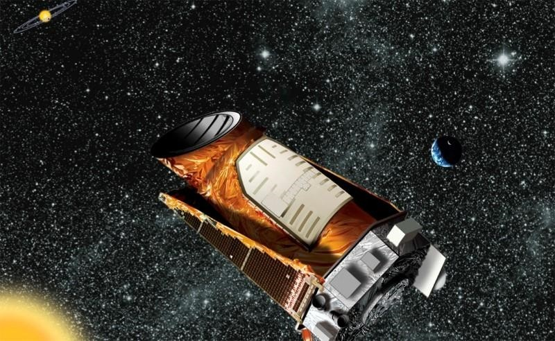 An artist's composite of the Kepler telescope is seen in this undated NASA handout image. (Reuters Photo)