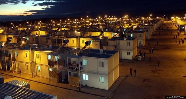 أحد مخيمات اللائجين في تركيا بولاية قهرمان مرعش جنوبي البلاد