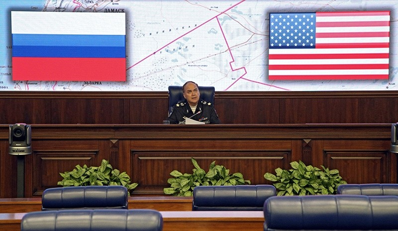 Russian then Deputy Minister of Defense Anatoly Antonov talks to the media during a briefing at the Russian National Defense Management Center in Moscow, Russia, Oct. 07, 2016 (EPA Photo)