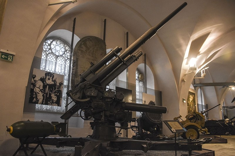 Photo shows an anti-aircraft weapon from WWII.