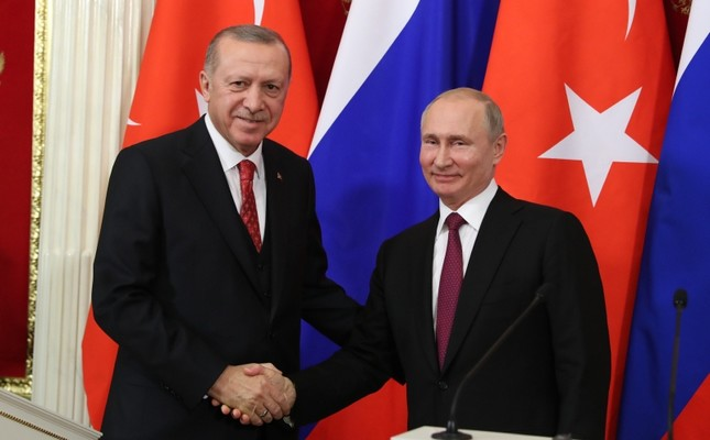 President Recep Tayyip Erdoğan (L) and Russian counterpart Vladimir Putin (File Photo)