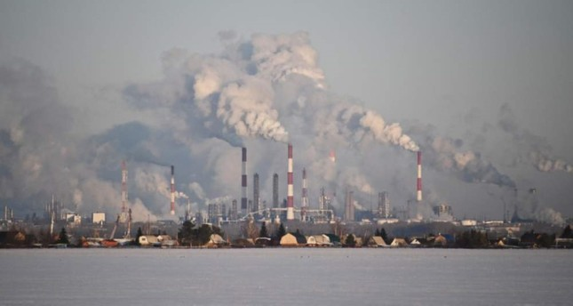 A view shows the Gazprom Neft's oil refinery in Omsk, Russia, Feb. 10, 2020. REUTERS Photo