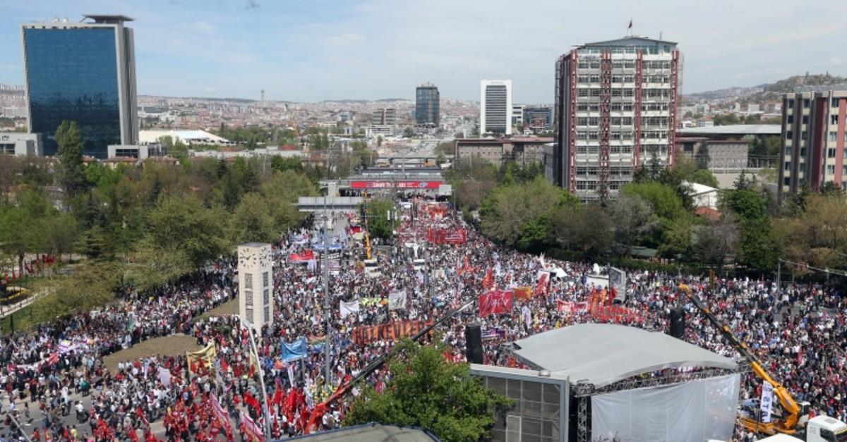 May Day celebrations in Ankara's Anadolu Square. (AA Photo)
