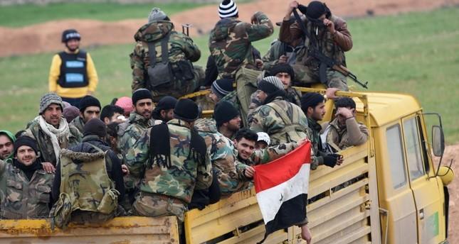 Syrian regime forces advance toward Saraqib, Idlib province, northwestern Syria, Feb. 5, 2020. AFP Photo