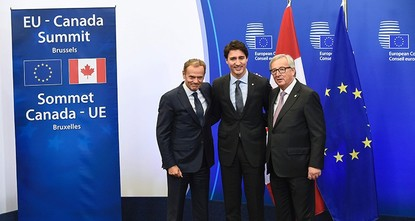 pA new trade agreement between the European Union and Canada entered into force on Thursday, eight years after the first negotiations began./p