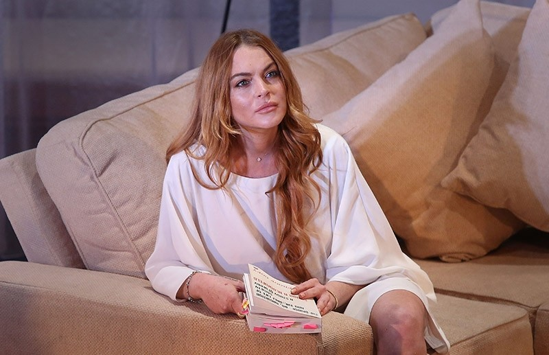In this Tuesday, Sept. 30, 2014 file photo, U.S actress Lindsay Lohan performs a scene from the play, ,Speed the Plow, (AP Photo)