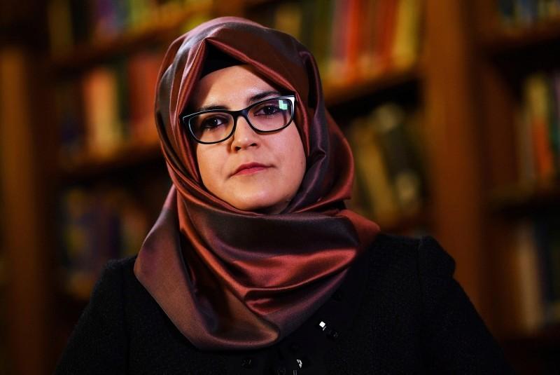 Hatice Cengiz, fiancee of slain Saudi journalist Jamal Khashoggi, is seen during an interview with Reuters in London, Britain, October 29, 2018. (REUTERS Photo)