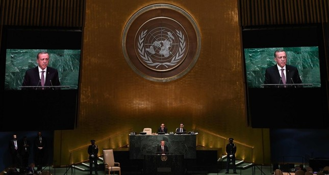 President Erdoğan addresses the 71st session of the United Nations General Assembly at the U.N. headquarters in New York, Sept. 20, 2016.