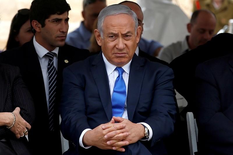 Israeli Prime Minister Benjamin Netanyahu attends an annual state memorial ceremony for Israel's first prime minister, David Ben Gurion, at his gravesite in Sde Boker, Israel Nov. 14, 2018. (Reuters Photo)