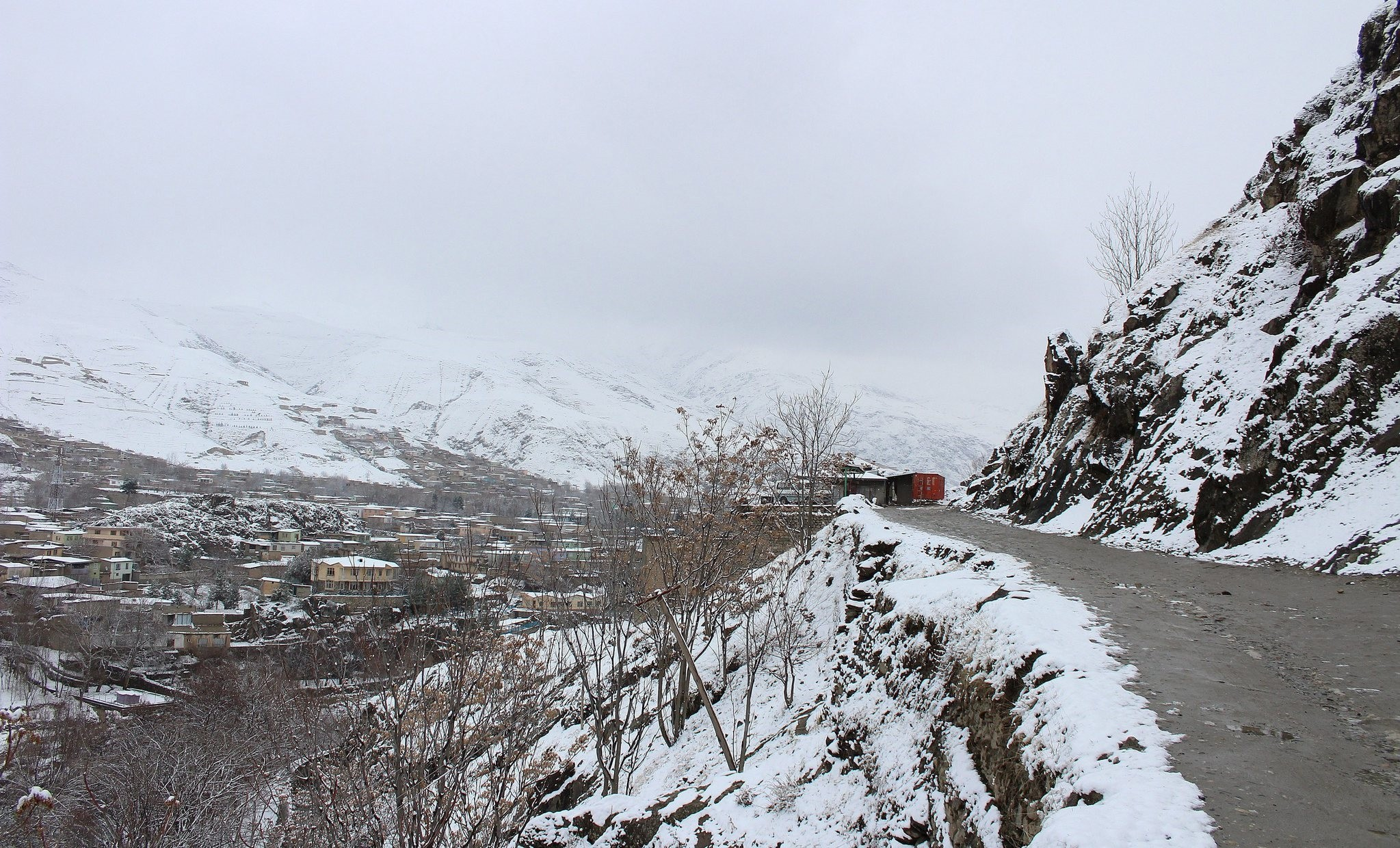 A view of a snow covered mountains in Badakhshan, Afghanistan, 05 February 2017. (EPA)