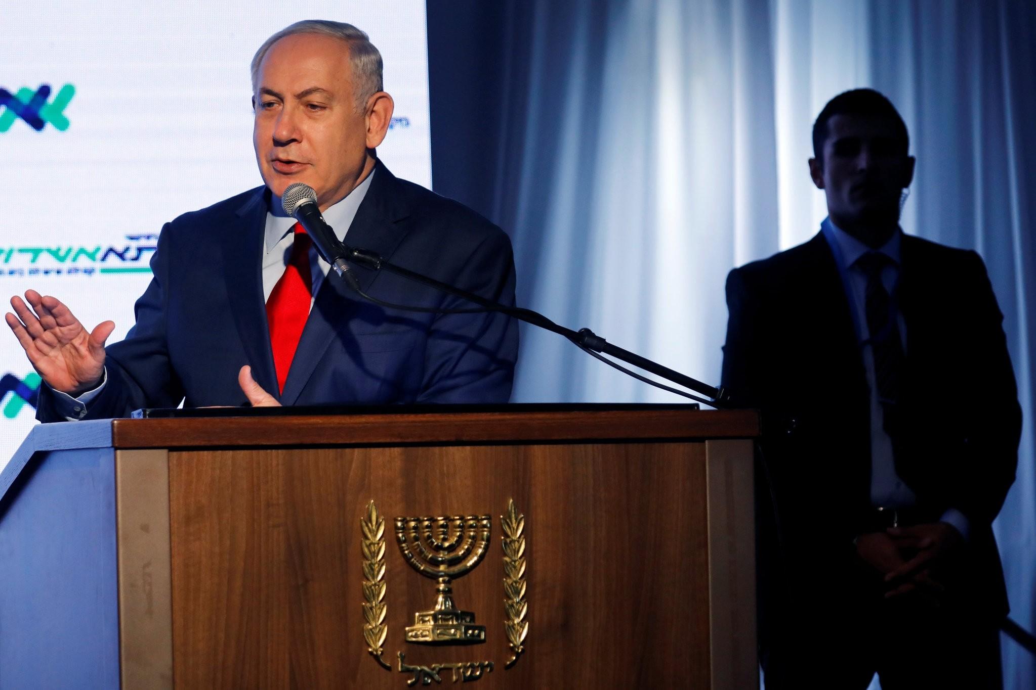 Israeli Prime Minister Benjamin Netanyahu speaks during a dedication ceremony of the ,Assuta, hospital in Ashdod, Israel December 21, 2017. (REUTERS Photo)