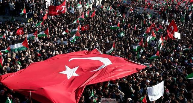 الشعب التركي ينتفض للقدس.. مئات الآلاف يتظاهرون في 81 محافظة تنديداً بقرار ترامب