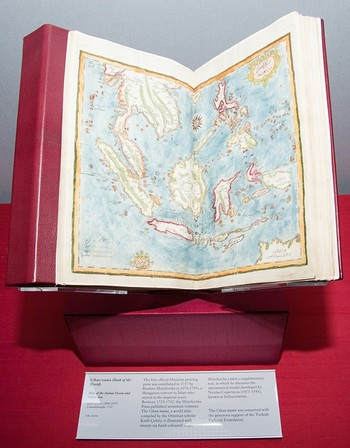 The book on display in the Chester Beatty Library in Dublin, Ireland.