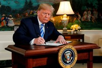 ترامب يعلن انسحاب الولايات المتحدة من الاتفاق النووي الإيراني