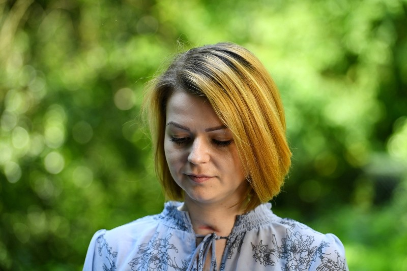 Yulia Skripal, who was poisoned in Salisbury along with her father, Russian spy Sergei Skripal, speaks to Reuters in London, Britain, May 23, 2018. (Reuters Photo)