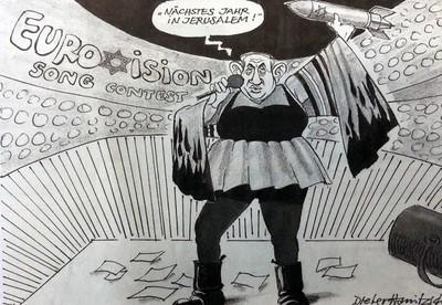 german daily fires cartoonist over critical netanyahu cartoon