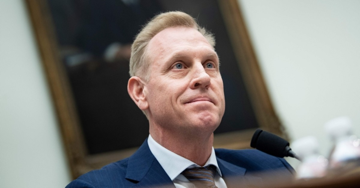 In this file photo taken on March 26, 2019 acting U.S. Secretary of Defense Patrick Shanahan speaks during a hearing of the House Armed Services Committee on Capitol Hill in Washington, DC. (AFP Photo)