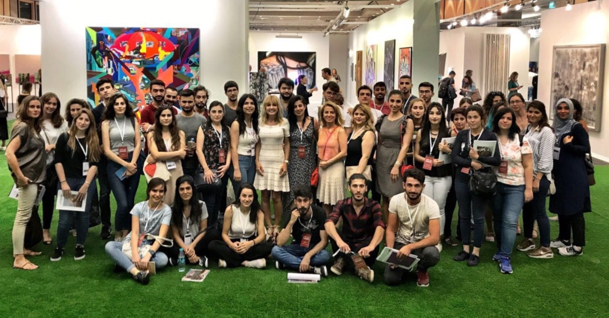 Young artists who visited Istanbul art venues produced works of art to be displayed at the exhibition ,Impressions from Anatolia.,