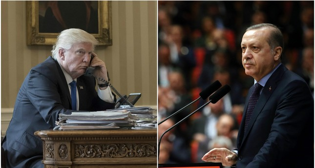 Erdoğan, Trump hold phone call for first time