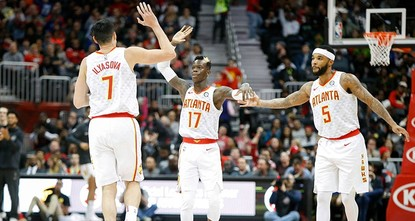 pTurkish power forward Ersan Ilyasova contributed 20 points as Atlanta Hawks won consecutive games for the first time this season with a 113-99 victory Wednesday night over the mercurial Washington...