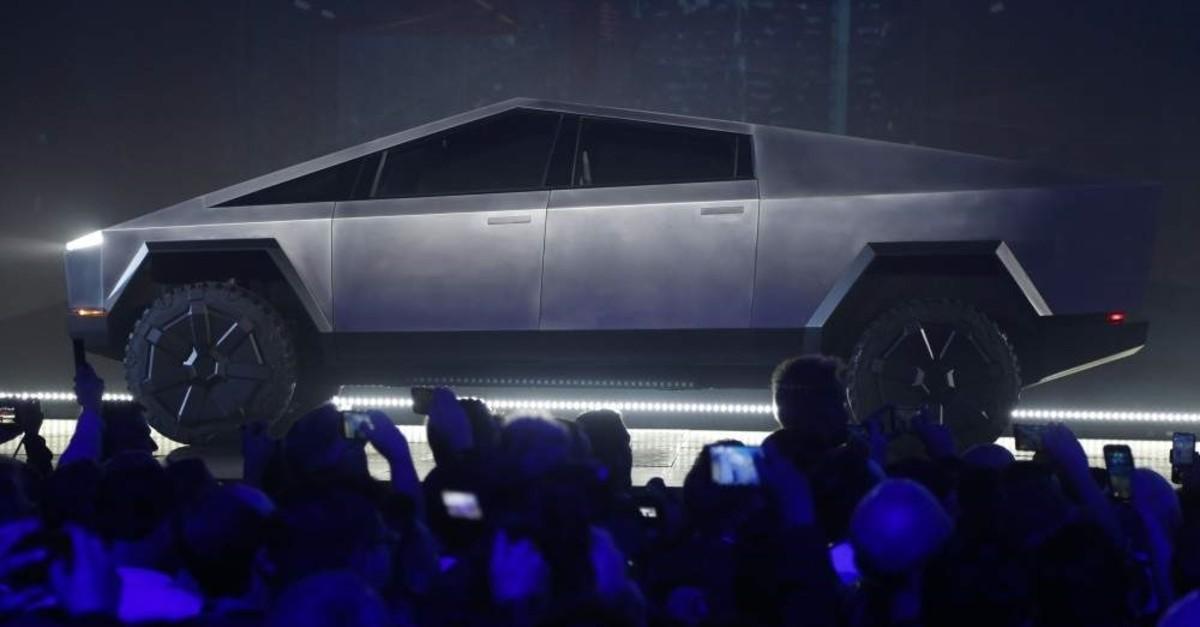 The Tesla Cybertruck is unveiled at Tesla's design studio, Thursday, Nov. 21, 2019, in Hawthorne, Calif. (AP Photo)