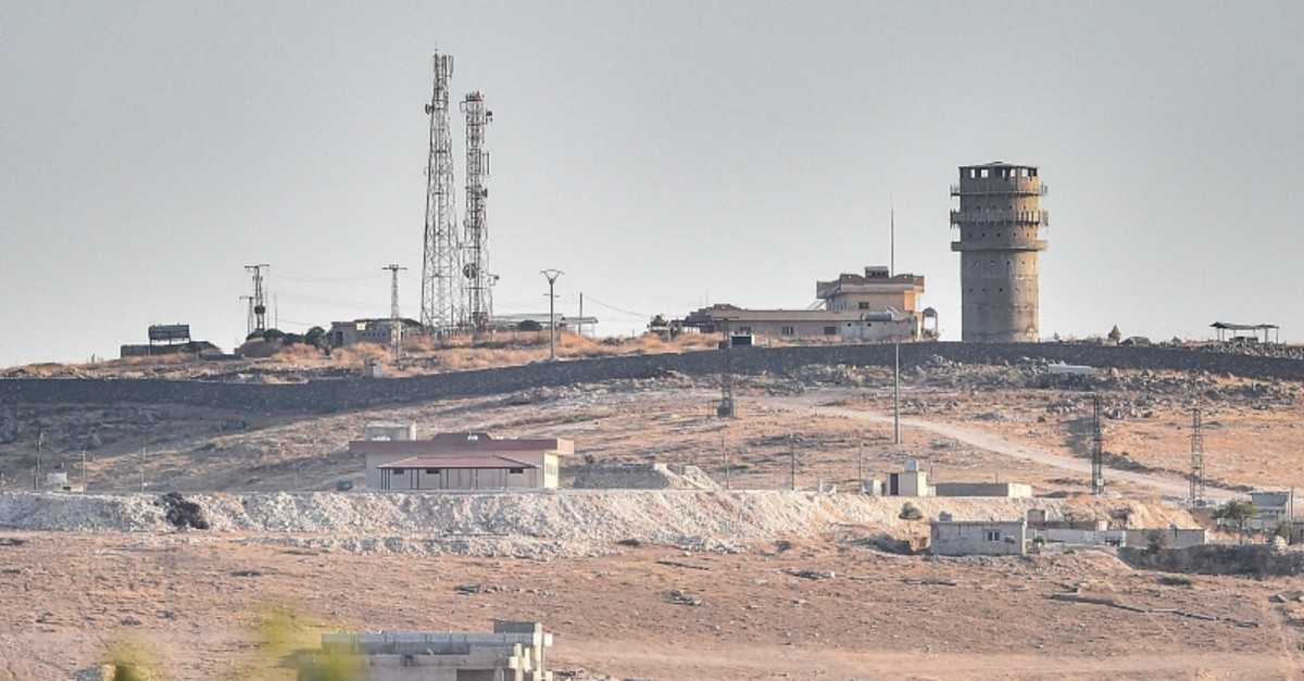 This picture taken on Oct. 12, 2019, shows a U.S. observation post near the Syrian town of Ayn al-Arab. (AFP Photo)