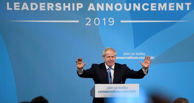 Boris Johnson speaks after being announced as Britain's next Prime Minister at The Queen Elizabeth II centre in London, Britain July 23, 2019. (Reuters Photo)