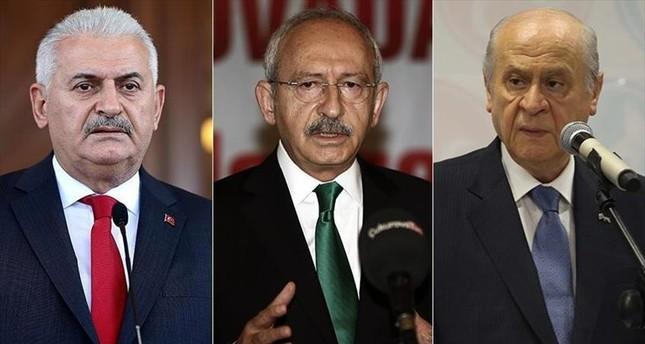 رئيس الوزراء التركي يلدريم يعقد اجتماعاً تشاورياً مع زعيمي حزبي المعارضة