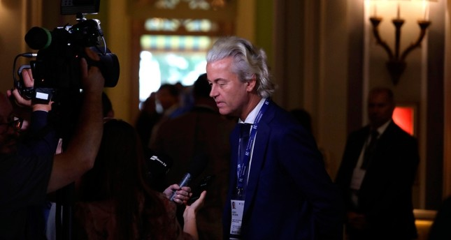 Dutch PVV party leader Geert Wilders arrives to attend the Forum The European House - Ambrosetti, in Cernobbio, northern Italy, Saturday, Sept. 7, 2019 AP Photo