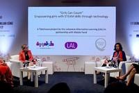 """Mädchen aller Altersstufen trafen sich am Mittwoch auf einer Veranstaltung zum Weltmädchentag 2017 in der türkischen Metropole Istanbul.  Der """"Internationale Mädchentag"""