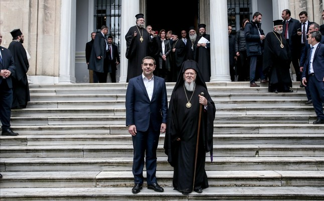 During his trip to Turkey, Tsipras became the first Greek prime minister to visit the Halki seminary in Heybeliada on the Princes' Islands, Feb. 6, 2019.