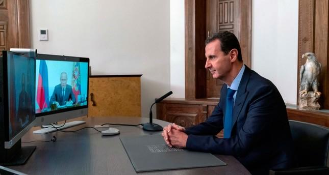 رئيس النظام السوري يناقش مع بوتين خطوات عقد مؤتمر النازحين الذي ترعاه موسكو في دمشق AP