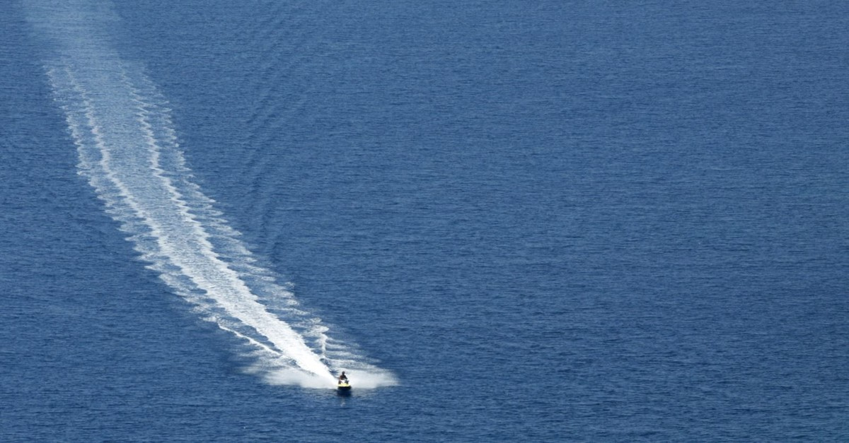 A person on a jet ski on August 26, 2010. (REUTERS Photo)