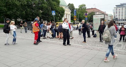 pFinnish police reportedly shot a man who stabbed several people with a knife at the Puutori-Market Square in southwestern city of Turku on Friday./p