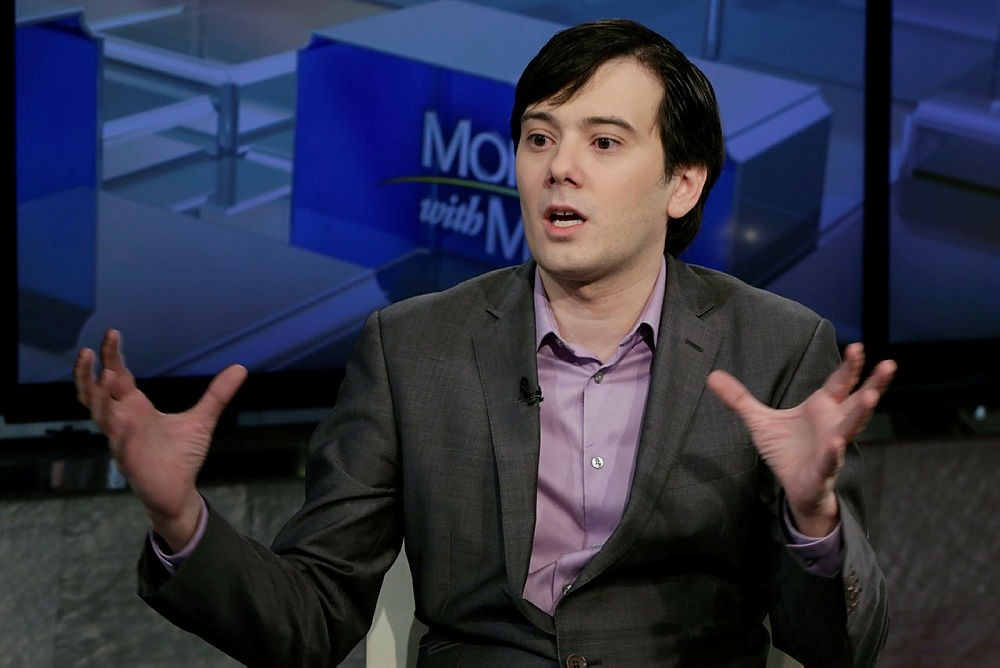 Martin Shkreli speaks during an interview by Maria Bartiromo during her ,Mornings with Maria Bartiromo, program on the Fox Business Network, in New York. (AP Photo)