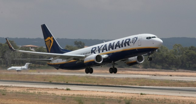 A Ryanair airplane takes off from Palma de Mallorca airport in the Spanish island of Mallorca, Spain, July 21, 2018. (Reuters Photo)