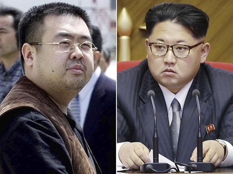 This combination of file photos shows Kim Jong Nam, left, exiled half-brother of North Korea's leader Kim Jong Un. (AP Photos)