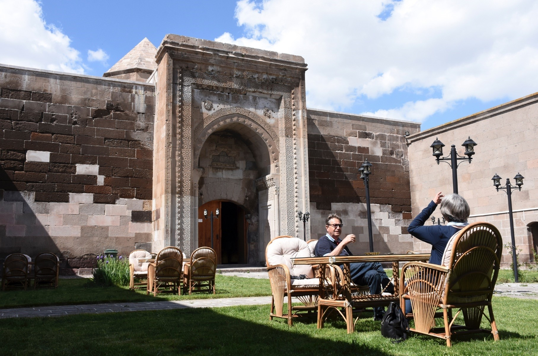 Karatay Caravanserai hosts guest who can eat and sleep at the place just like old days.