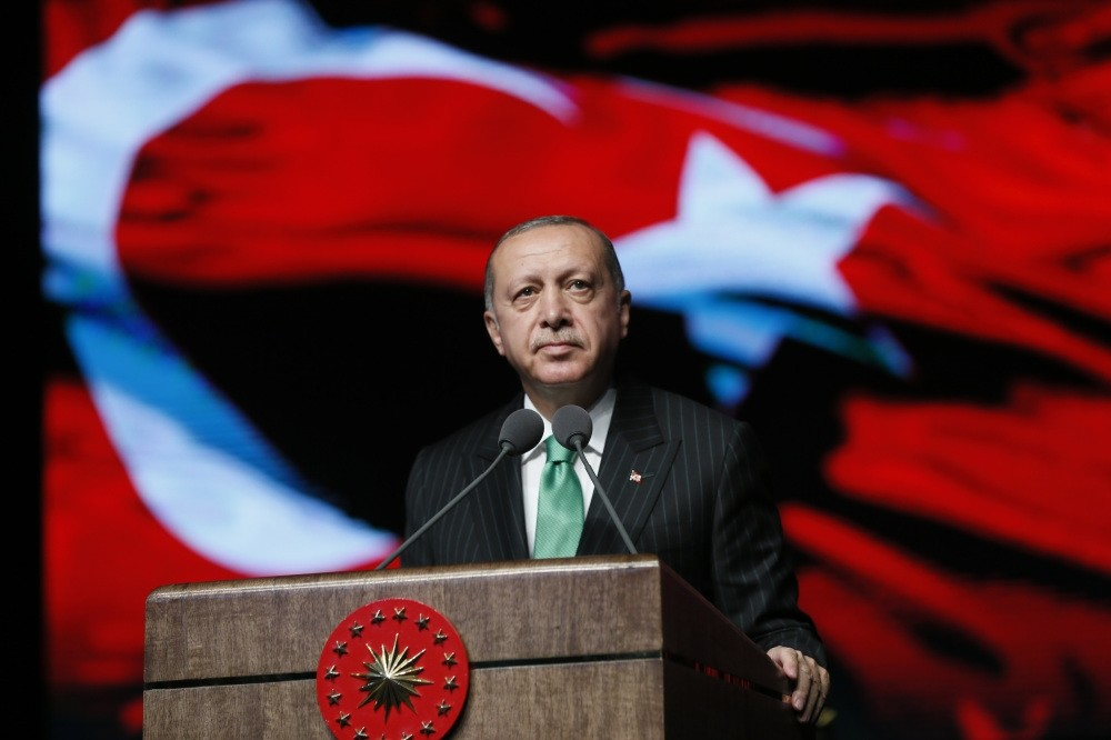 President Recep Tayyip Erdou011fan delivers a speech at a Veterans Day event in Ankara, Sept. 19.