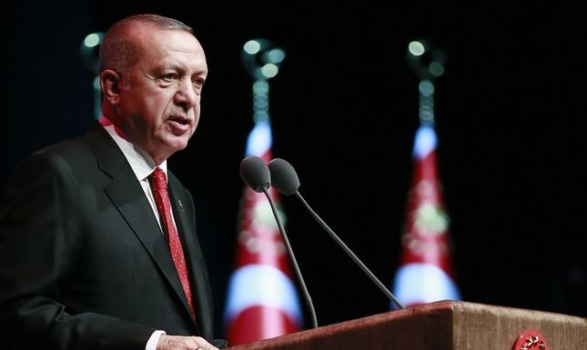 President Recep Tayyip Erdoğan addresses a conference on judicial reform strategy, in Ankara, Turkey, Thursday, May 30, 2019. (AA Photo)