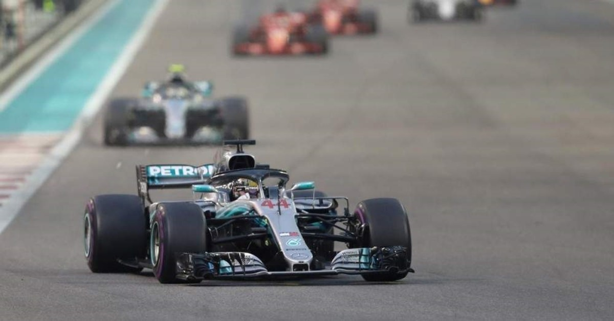 Mercedes' Lewis Hamilton during the race at Yas Marina Circuit, Abu Dhabi, Nov. 25, 2018. (Reuters Photo)