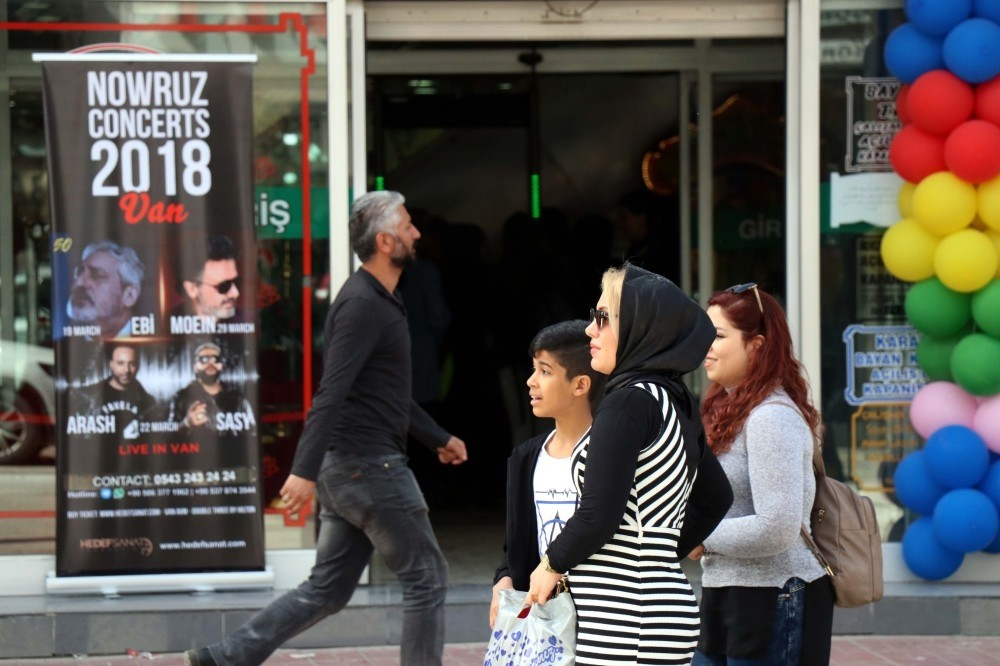 Iranian tourists who came to Turkey's eastern province of Van for Nevruz holiday showed high interest in the ongoing Van Shopping Festival and hotels in the city have reached almost full occupancy.