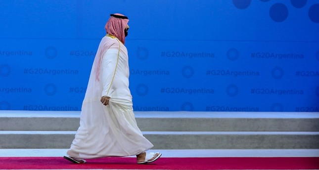 Saudi Arabia's Crown Prince Mohammed bin Salman during the G-20 Leaders' Summit family photo on Nov. 30, 2018 in Buenos Aires. (AFP Photo)
