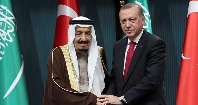 اتصال هاتفي بين الرئيس التركي وملك السعودية سلمان بن عبد العزيز