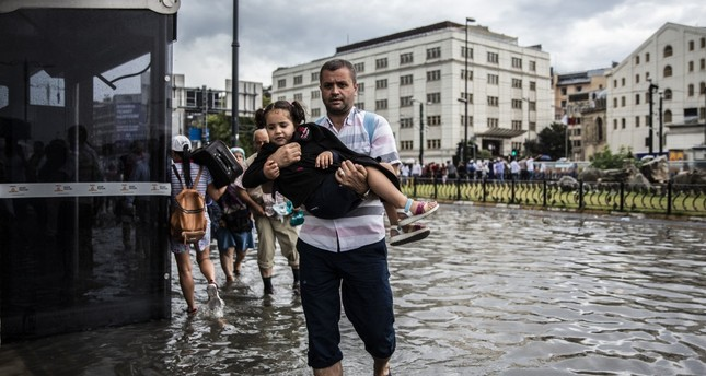 Latest summer rains in Istanbul caused flooding throughout the city.