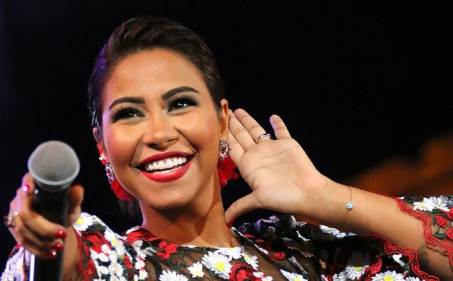 This file photo taken on August 27, 2016 shows Egyptian singer Sherine Adbel-Wahab performing at the Baalbek International Festival in Lebanon. (AFP Photo)
