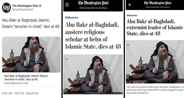 Washington Post calls al-Baghdadi 'religious scholar' before revising title