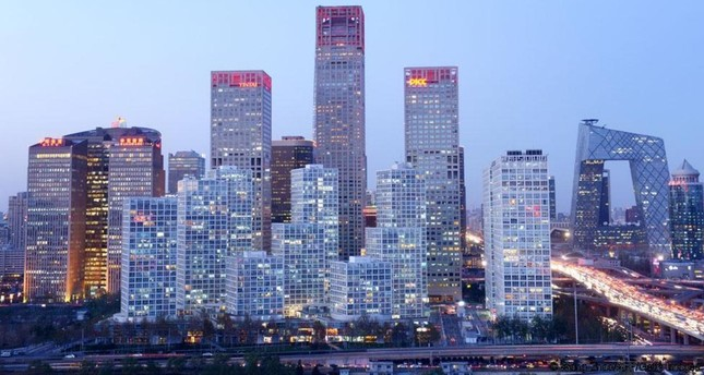 Photo shows skyline of Beijing's central business district. (AFP Photo)