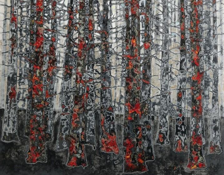 Mesut Karaku0131u015f, Untitled, 2018, Acrylic on canvas, 120x100 cm.